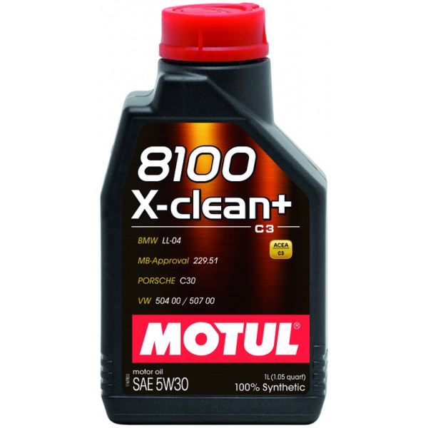 Motul 8100 X-clean plus 5W30 1л