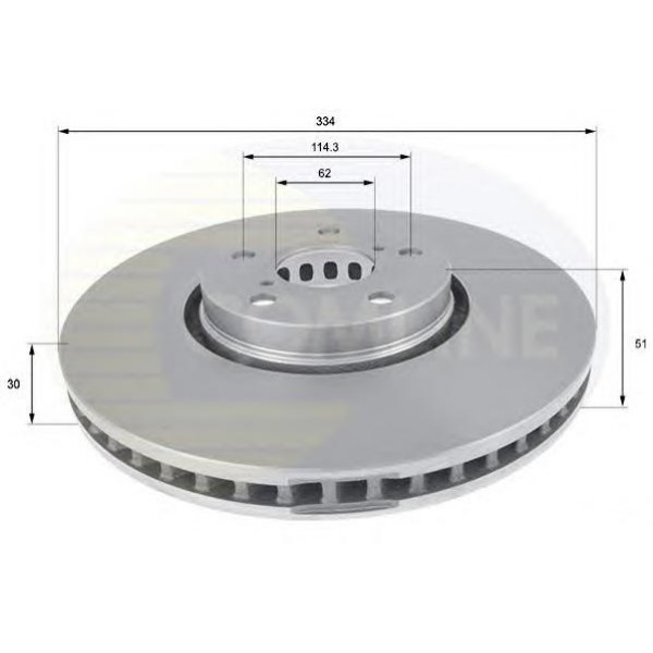 Тормозной диск передний правый Toyota/Lexus 4351222260