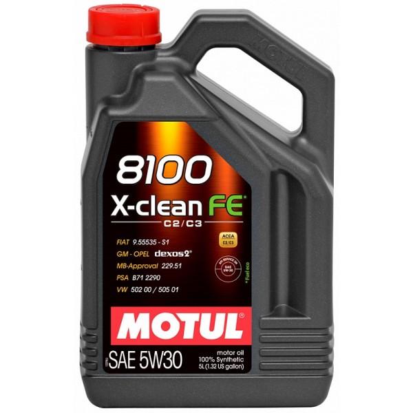 Motul 8100 X-clean FE 5л
