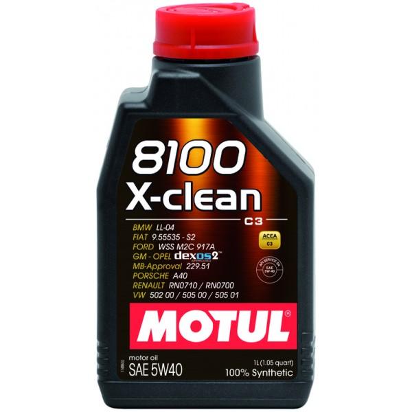 Motul 8100 X-clean 5W40 Gen2 1л